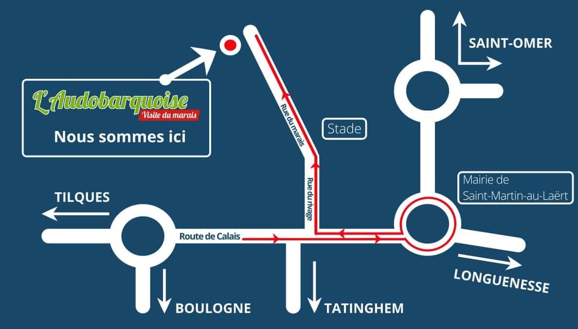 plan-acces-audobarquoise-visite-marais-saint-omer